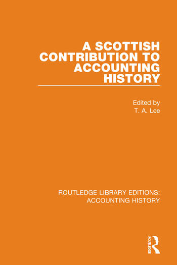 A Scottish Contribution to Accounting History book cover