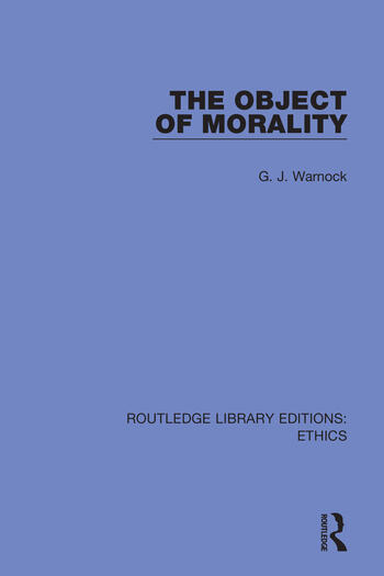 The Object of Morality book cover