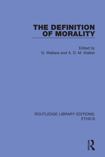 The Definition of Morality book cover