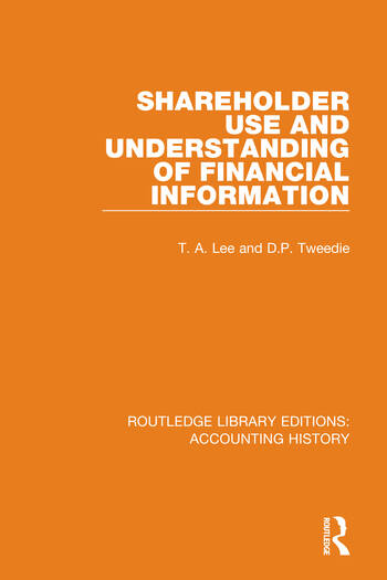 Shareholder Use and Understanding of Financial Information book cover