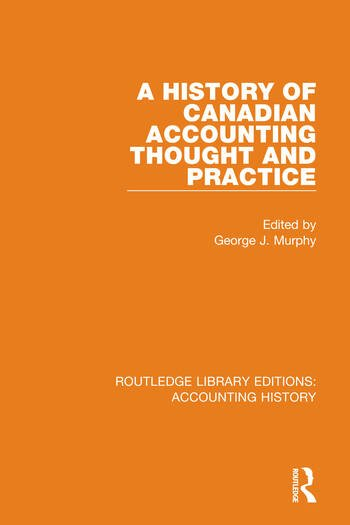 A History of Canadian Accounting Thought and Practice book cover