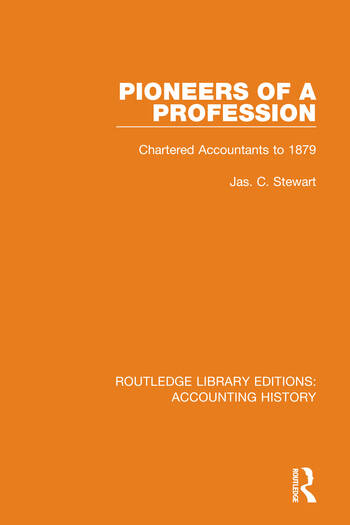Pioneers of a Profession Chartered Accountants to 1879 book cover