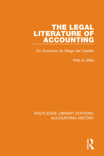 The Legal Literature of Accounting On Accounts by Diego del Castillo book cover