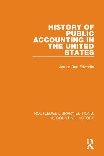 History of Public Accounting in the United States book cover