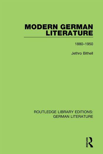 Modern German Literature 1880-1950 book cover
