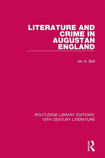 Literature and Crime in Augustan England book cover