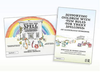 Supporting Children with Fun Rules for Tricky Spellings An Illustrated Storybook and Workbook SET book cover