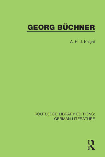 Georg Büchner book cover