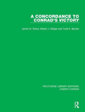 A Concordance to Conrad's Victory book cover