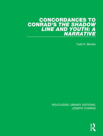 Concordances to Conrad's The Shadow Line and Youth: A Narrative book cover