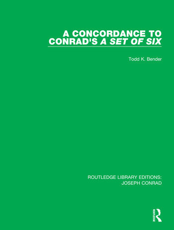 A Concordance to Conrad's A Set of Six book cover