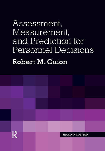 Assessment, Measurement, and Prediction for Personnel Decisions book cover