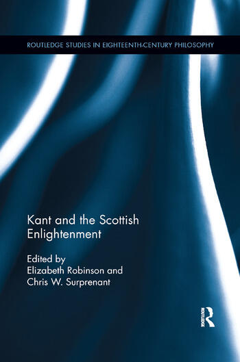 Kant and the Scottish Enlightenment book cover