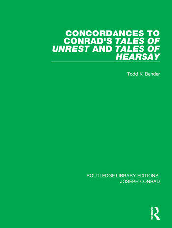 Concordances to Conrad's Tales of Unrest and Tales of Hearsay book cover