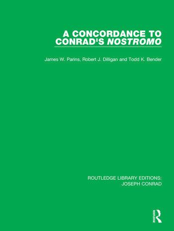 A Concordance to Conrad's Nostromo book cover