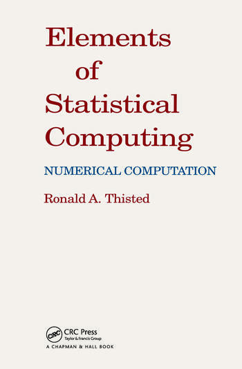 Elements of Statistical Computing NUMERICAL COMPUTATION book cover