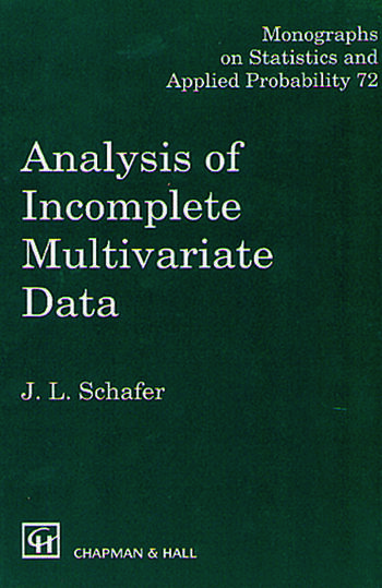 Analysis of Incomplete Multivariate Data book cover