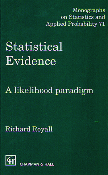Statistical Evidence A Likelihood Paradigm book cover