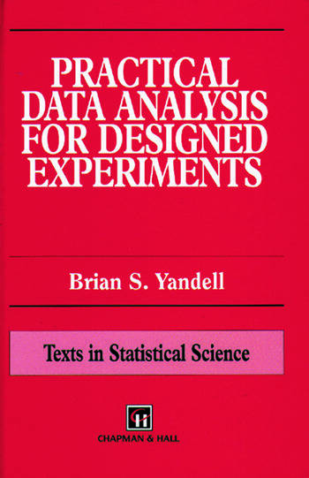 Practical Data Analysis for Designed Experiments book cover