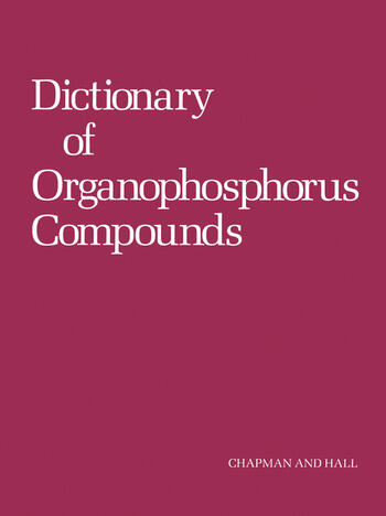 Dictionary of Organophosphorus Compounds book cover