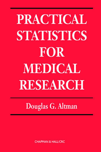 Practical Statistics for Medical Research book cover