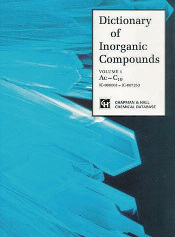 Dictionary of Inorganic Compounds book cover