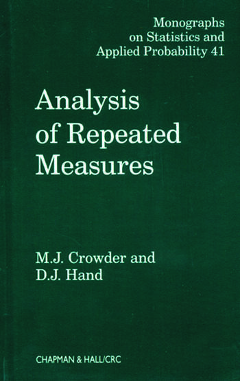 Analysis of Repeated Measures book cover