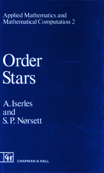 Order Stars Theory and Applications book cover