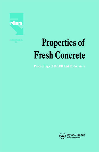 Properties of Fresh Concrete Proceedings of the International RILEM Colloquium book cover