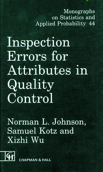 Inspection Errors for Attributes in Quality Control book cover
