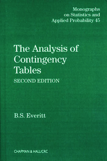 The Analysis of Contingency Tables book cover