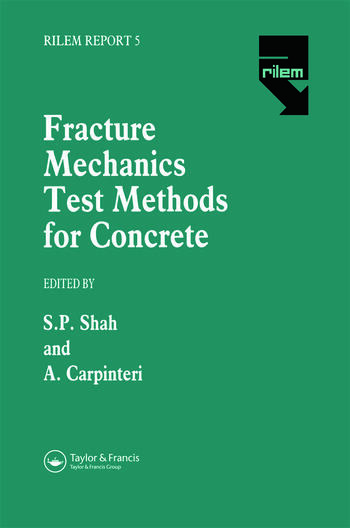 Fracture Mechanics Test Methods For Concrete book cover