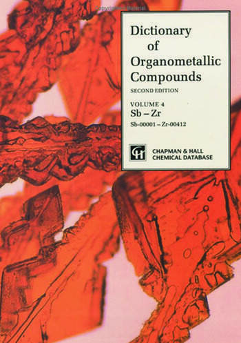 Dictionary of Organometallic Compounds book cover