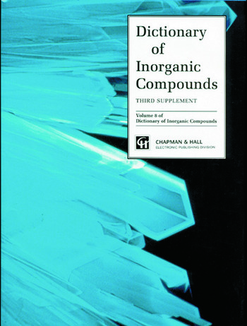 Dictionary of Inorganic Compounds, Supplement 3 book cover