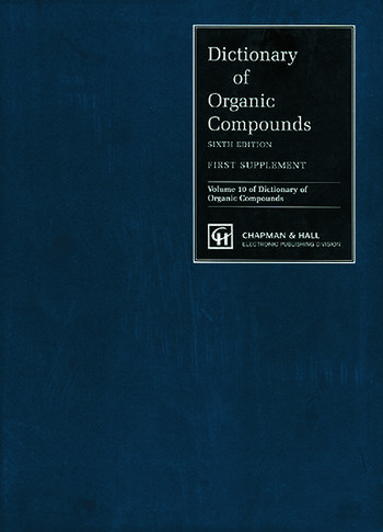 Dictionary of Organic Compounds, Sixth Edition, Supplement 1 book cover