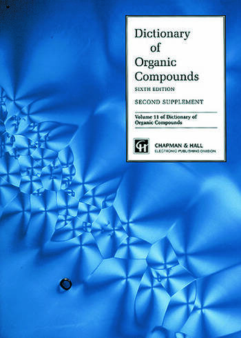 Dictionary Organic Compounds, Sixth Edition, Supplement 2 book cover