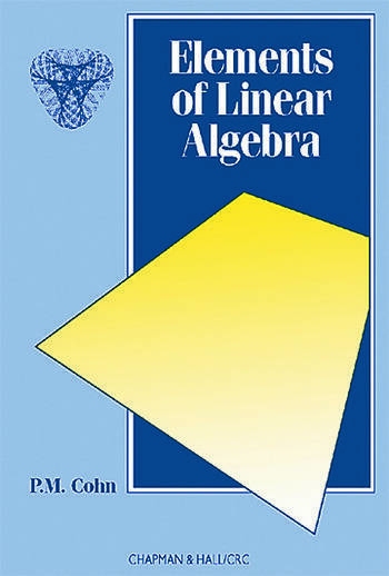 Elements of Linear Algebra book cover