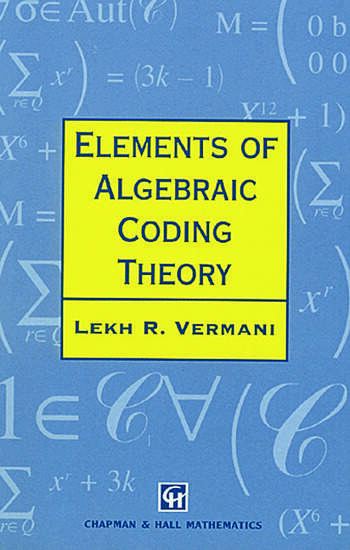 Elements of Algebraic Coding Theory book cover