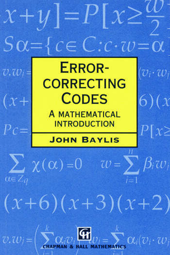 Error Correcting Codes A Mathematical Introduction book cover