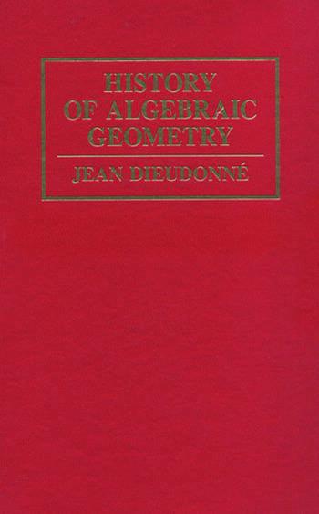 History Algebraic Geometry book cover