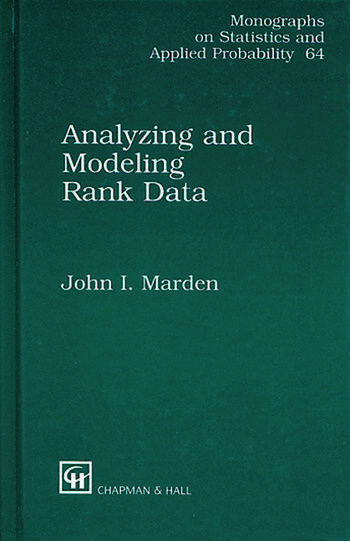 Analyzing and Modeling Rank Data book cover