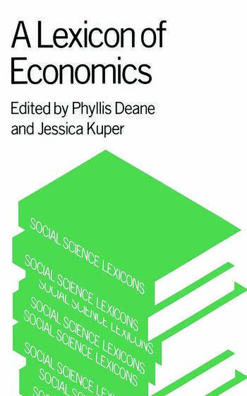 A Lexicon of Economics book cover