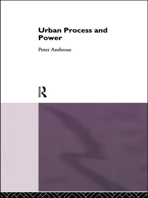 Urban Process and Power book cover