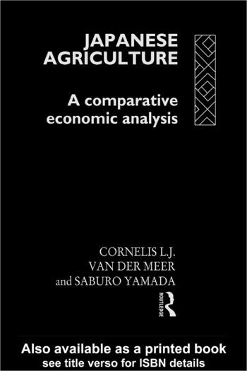 Japanese Agriculture A Comparative Economic Analysis book cover