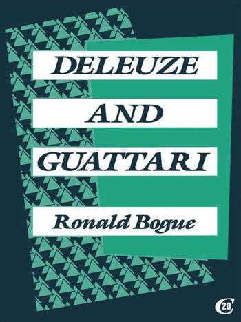 Deleuze and Guattari book cover