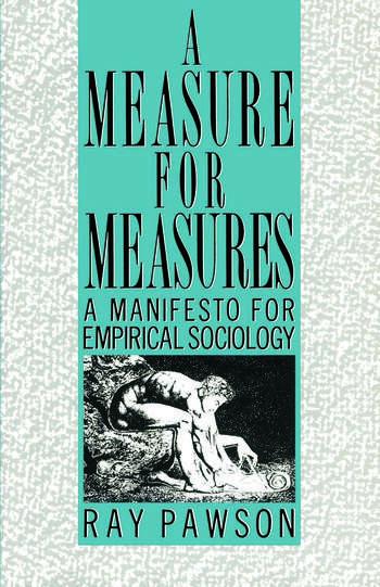 A Measure for Measures A Manifesto for Empirical Sociology book cover