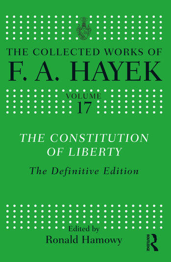The Constitution of Liberty The Definitive Edition book cover