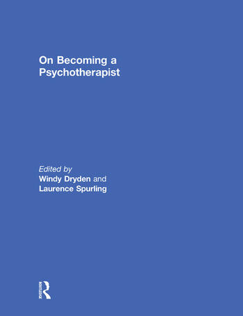 On Becoming a Psychotherapist book cover