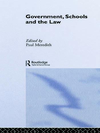 Government, Schools and the Law book cover