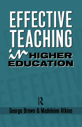 Effective Teaching in Higher Education book cover